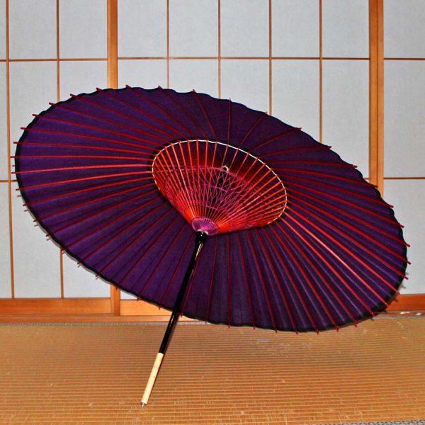 紫 和傘 蛇の目傘