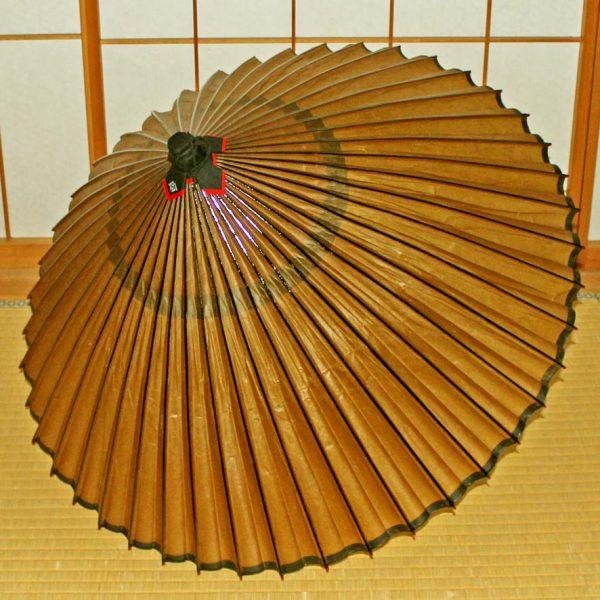 Japanese umbrella 和傘 蛇の目傘 黄金色 特選無地