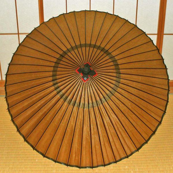 黄金色の蛇の目傘 和傘 蛇の目傘