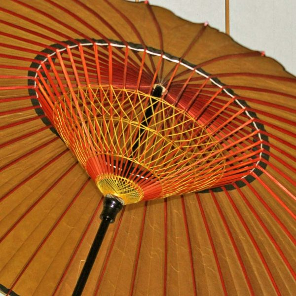 蛇の目傘黄金色 内側 2弾の糸飾り