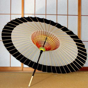 蛇の目傘 黒と白 和傘 Japanese umbrella