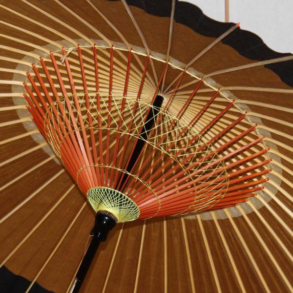 蛇の目傘 内傘 糸飾り