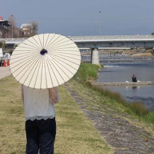 白 和日傘 Japanese umbrella