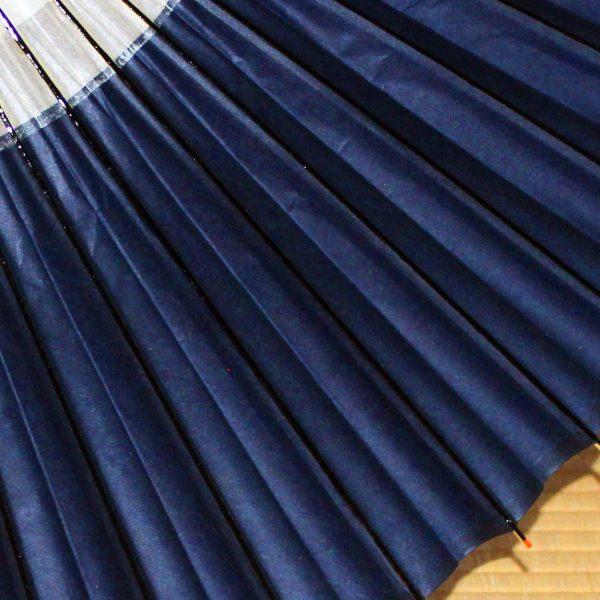 藍色 和傘 蛇の目柄 Japanese umbrella