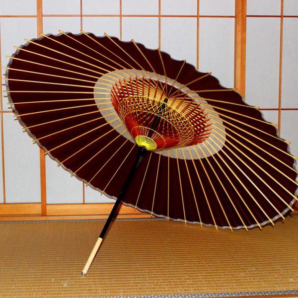 蛇の目傘 えび茶色 蛇の目柄 Japanese umbrella brown
