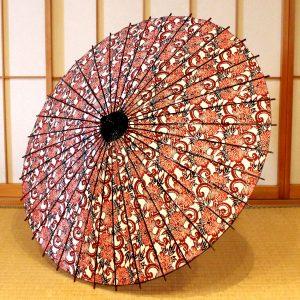 型染和紙の日傘
