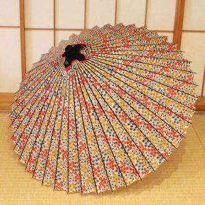 蛇の目傘 和傘 型染め和紙 可愛い和傘