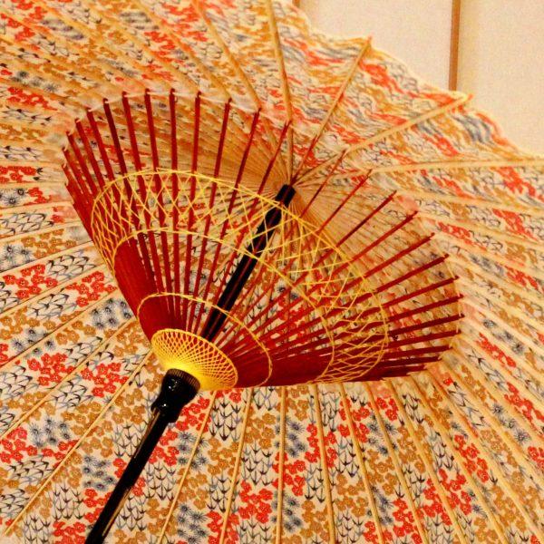 和傘 色あざやか 蛇の目傘
