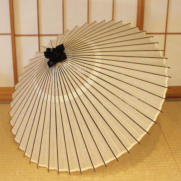 番傘 白 Japaneseumbrella
