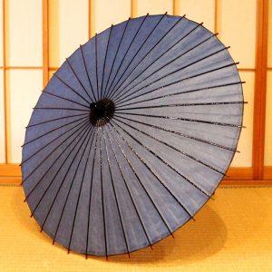 青い和傘 日傘