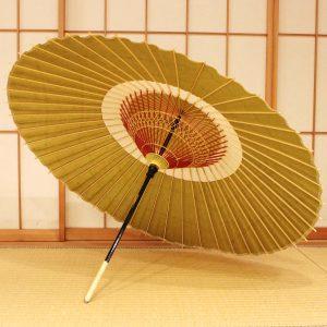 蛇の目傘 和傘 鶯色
