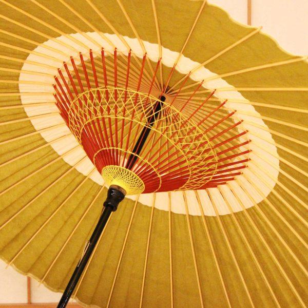 抹茶色の和傘 蛇の目傘