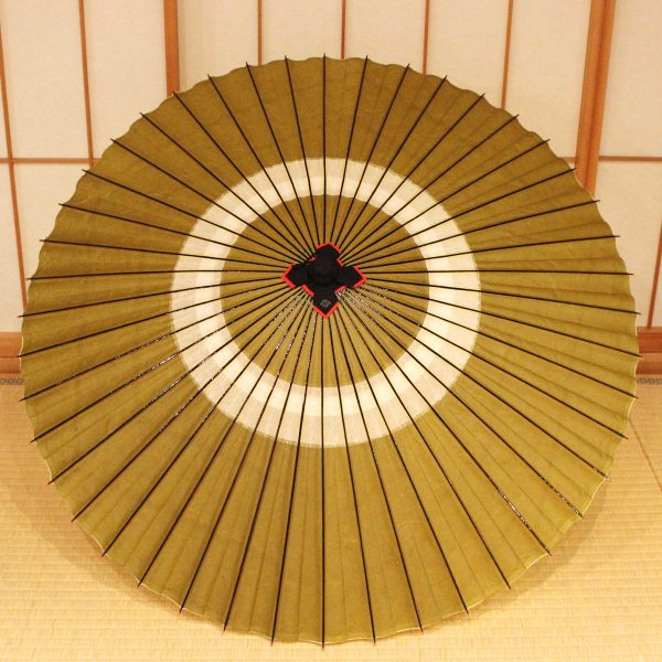 蛇の目傘 和傘 蛇の目傘 鶯色 和傘 Japaneseumbrella