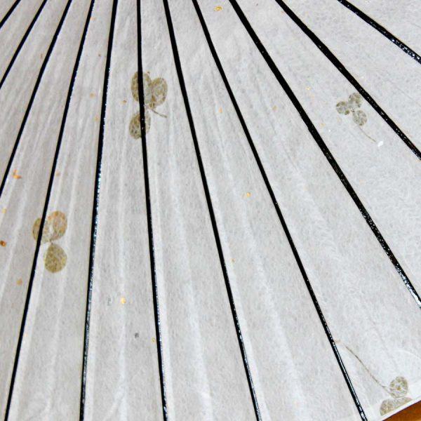 クローバーの葉っぱが入った和紙 葉入り和紙の和日傘