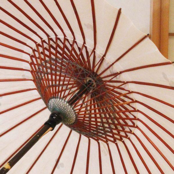 和日傘の内側糸飾り