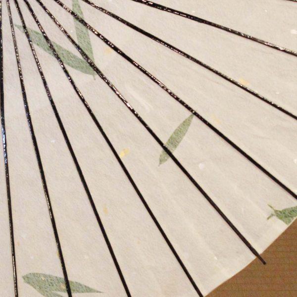 笹の葉入りの手漉き和紙