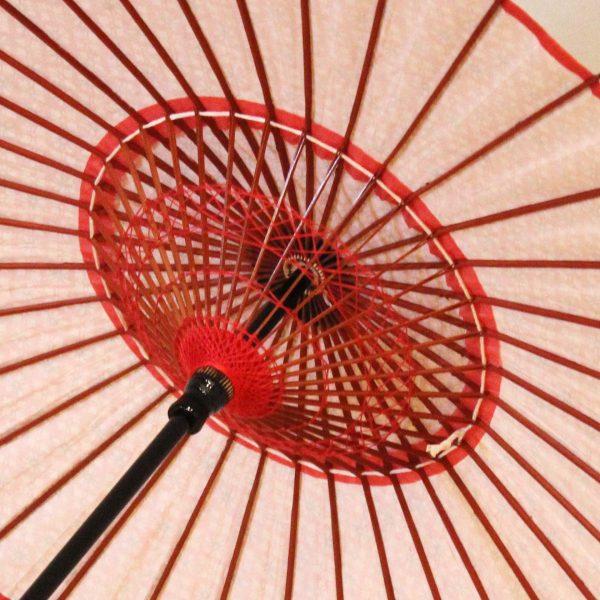 和日傘の糸飾り