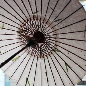 和日傘 笹の葉入りの和紙