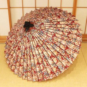京友禅和紙の和傘、雨傘、模様の和傘