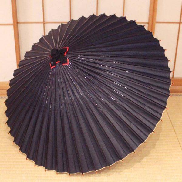 藍色の和傘、Japanese umbrella、青色の番傘