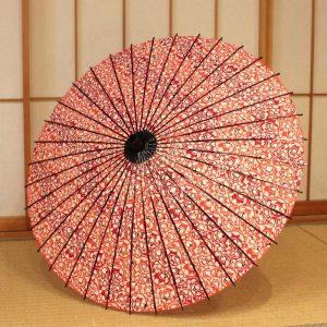 唐草文様の和日傘
