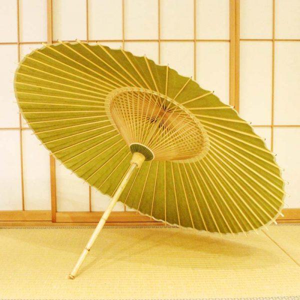 若葉色の番傘(雨傘)