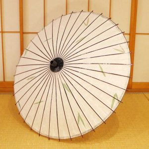 笹の葉入りの和日傘