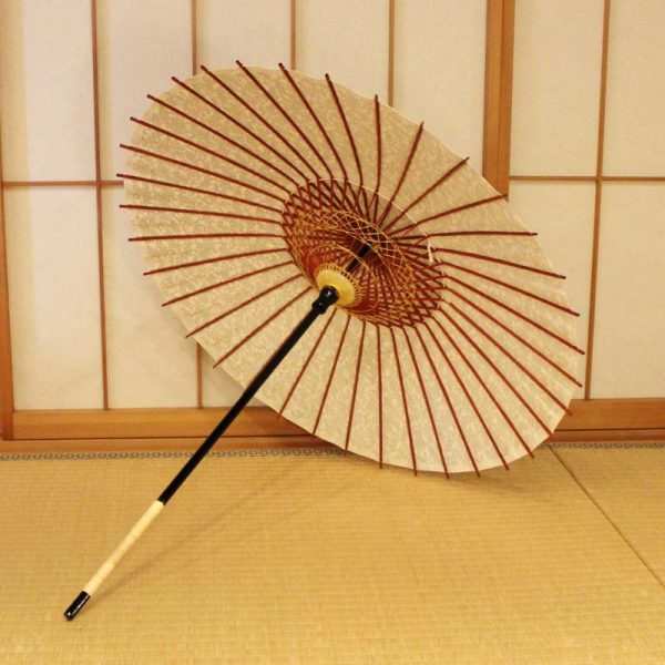 日本製の和紙(型染和紙)の日傘です。日本の職人による手作り品です。