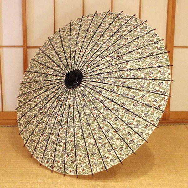 型染和紙を使用した和柄もようの和日傘です。日本の職人の手作り品です。