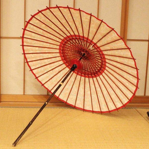 和黒竹和日傘 すべて自然の材料で作られている日本製の和傘
