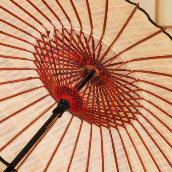 型染め和紙の和日傘-和紙と竹を材料に作った和日傘