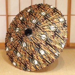 京友禅和紙を和日傘に仕立てた、趣のある和日傘です。