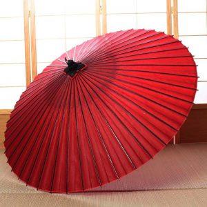 真紅の蛇の目傘(雨傘)です。