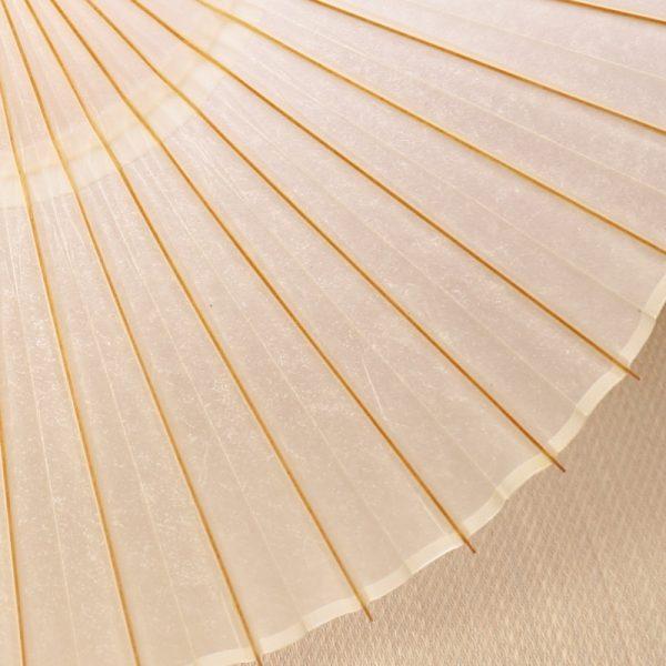 京都の黒谷和紙とのコラボレーションにより完成した極上の白の蛇の目傘