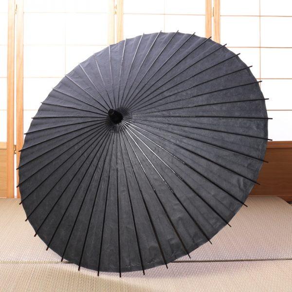黒色の雲竜紙の和日傘です。