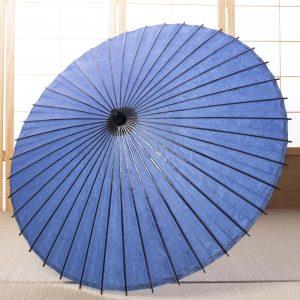 青色の和紙の日傘です