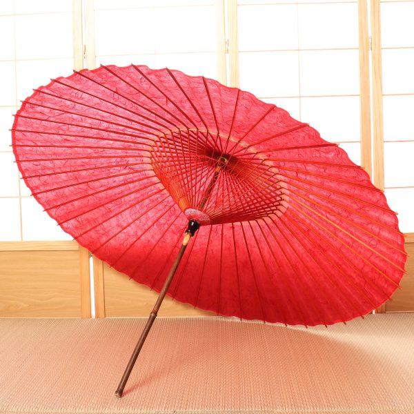 赤色の和傘