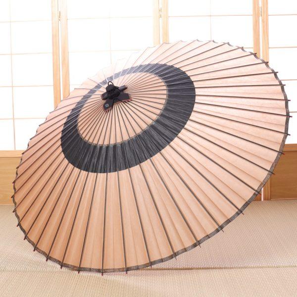 薄茶と黒の色変わり蛇の目傘