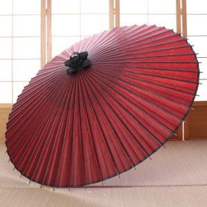 海老茶色(エンジ色)の番傘