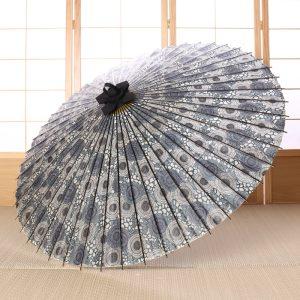 菊唐草もようの番傘