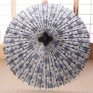 菊唐草模様の番傘