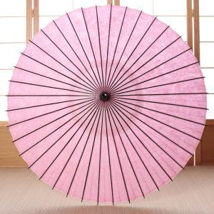 桃色の和日傘