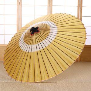 芥子色(黄色)の和傘