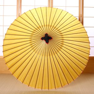 黄色の和傘|蛇の目傘