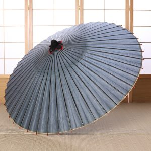 水色の透明感のある和傘