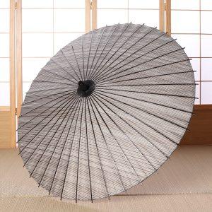 縞模様の和日傘